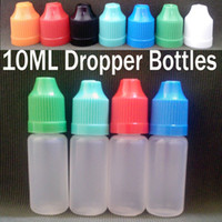 10ml Electronic Cigarette Package For E-Cigarette Plastic Dropper Bottle 10ML With Childproof Caps And Long Thin Tip Empty Dropper Bottles for Electronic Cigarette ego E Cig Ce4 Ce5 PE 10ml