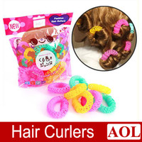 Wholesale Hairdressing tool Magic Lucky Circle Hair Rollers Shaping Device Hair Curlers Natural Curly Smal cml Big cm