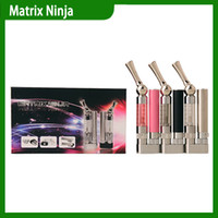 Wholesale Newest Foldable Matrix Ninja Bottom Degrees Rotation Atomizer Nozzle Electronic Cigarette Rechargeable Battery DHL