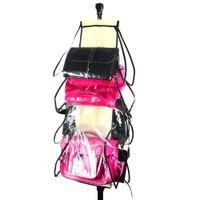 Wholesale Smallwholesales hangable storage bag foldable organizer double side Pockets stainless steel Hanging Storage of Bag Organizer