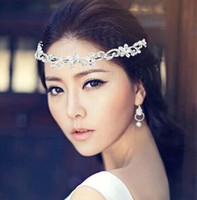 Wholesale 2016 New fashion jewelry korean rhinestone tiaras crowns bridal hair accessories For wedding jiej001