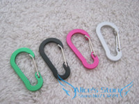 Non-Locking Carabiners 0-0.25 Rock Climb New 4pcs 50mm Assorted mini Aluminum Flat Hiking buckle, Hiking Carabiner Hook Carabiner Keychain C007