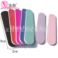 Nail File assorted nail designs - 50pcs Professional decorative design Assorted Colors Nail Files Buffer Buffing GIRLIE MINI EMERY BOARDS BULK cm
