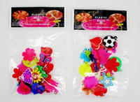 Wholesale Mixed Girl Assortment Charms for Rainbow Loom Silicone Bracelets Small Pendant Mini Rubber Band Charm Pack bag