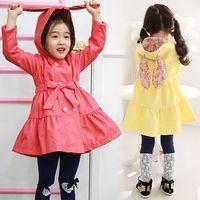Girl rabbit coat - children clothes fall autumn cute cartoon girls coat casual rabbit ears kids clothing jacket dandys