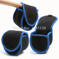Blue Two-Layer No Free Shipping 5pcs Fishing Reel Case Pouch Bag Protective Cover Fly Sea Spinning Baitcasting Tackle Made Of Soft Neoprene