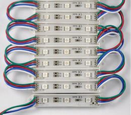 100pcs Waterproof IP65 DC12V SMD 5050 3 LED Modules RGB LED module light lamp