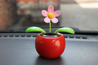 Wholesale Factory price car Swing Solar Flower car Magic Cute interior decoration solar dancing flowers