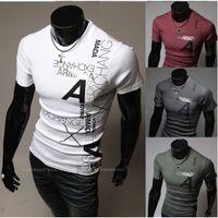 Cheap 2014 new Short Sleeve Men tshirts,Breathed Cotton T-Shirt for Men,Man's Sport Casual Men Tops T-shirts 4Colors Free Shipping+ Men's T-Shirts