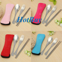 Wholesale Traveling Camping Picnic Spoon Fork Chopsticks Spork Cutlery