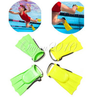 Child other Yes Green Stylish Soft Adjustable Flippers Fins For Toddlers Learn Swimming kid Children in Swimming Pool Beach For Summer Holiday