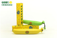 Cheap Wholesale-OP-1 PCS Banana Umbrella Novelty fashion yellow fun unusual umbrella in a banana case free shipping