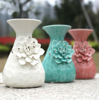 Wholesale Beautiful Color Flower Essential Oil Burner Restaurant Fragrance Lamp Aroma Oil Container Home Decoration SK085