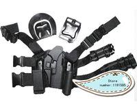 Wholesale OP Glock tactical puttee thigh belt drop Leg pistol movie prop pouch suit for right hand black