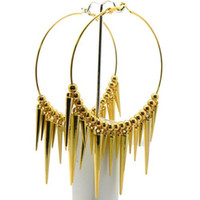 spike ball - SER2015 Hot Sale Basketball Wives Earring Poparazzi Spikes Ball Beads cm Hoop Earring