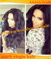 Wholesale 130density A Unprocessed Virgin Brazilian Body Wave Human Hair Front Lace Wig Glueless Full Lace Wigs With Baby Hair Natural Hairline