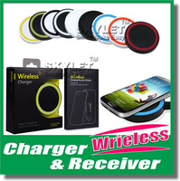 Wholesale Qi Standard Wireless Charger Pad For Galaxy S6 Qi Wireless Charger Cell phone Mini Charge Pad For Qi abled device With Retail Package