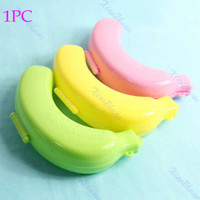 Cheap Free Shipping Large Cute Banana Guard Container Storage Lunch Fruit Protector Plastic Box Case