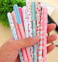 pen - Freeshipping New Cute Small fresh cute floral color neutral pen Korean Style Gel ink pen
