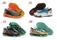 Cheap KD Basketball Shoes KD VI MEN Athletics Shoes Cheap Sale KD Sports Shoe Men Shoes Outdoors Mens Mix Orders Dropping FREE SHIPPING
