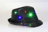 Wholesale LED hat flash hat bowler hats jazz hats emphasize entertainment items party