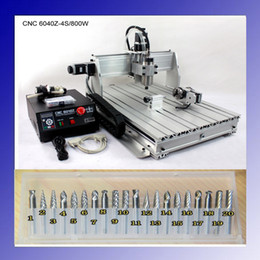 Wholesale 800W Four axis CNC Router Engraver Engraving Milling Drilling Cutting Machine CNC z s