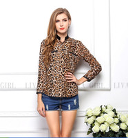Cheap Chiffon chiffon blouse Best   leopard blouse