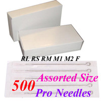 assorted tattoo needles - Best Quality Assorted Disposable Sterile Tattoo Needles For Tattoo Gun Needle Ink Cups Grips Kits
