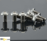 allen head bolts - 10Pcs Titanium Ti Water Bottle Cage M5x8mm Bolt Button Head Allen Key Screw