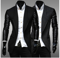 Wholesale 2015 New Fashion Men Trench coats Korean Slim fit Business casual wool blended outwear men s clothing for winter autumn overcoat