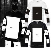 big block hood - Hood By Air HBA tee shirt big block design hiphop t shirt fashion Men Women cotton tshirt pyrex kanye west long sleeve t shirt