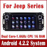Wholesale Android Car DVD Player for Jeep Compass Grand Cherokee Wrangler with GPS Navigation Radio TV BT USB AUX iPod DVR OBD G WIFI Audio Video