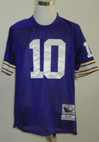 Cheap New Throwback Jerseys #10 Jersey Purple By M&N Cheap Size 48-56 High Quality Stitched Mix Match Order American Football JERSEY