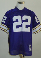 Cheap New Throwback Jerseys #22 Jersey Purple By M&N Cheap Size 48-56 High Quality Stitched Mix Match Order American Football JERSEY