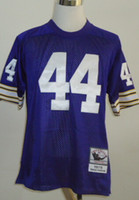 Cheap New Throwback Jerseys #44 Jersey Purple By M&N Cheap Size 48-56 High Quality Stitched Mix Match Order American Football JERSEY