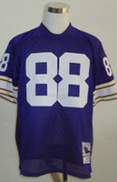 Cheap New Throwback Jerseys #88 Jersey Purple By M&N Cheap Size 48-56 High Quality Stitched Mix Match Order American Football JERSEY