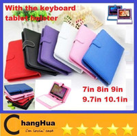 Wholesale Inch universal USB keyboard leather case stand for epad tablet pc MID