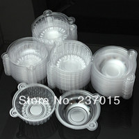 Wholesale 100Pcs Cupcake Clear Plastic Box Muffin Pod Dome Holder Cup Cake Case Container