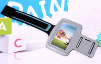 Wholesale New Arm Bands Holder Belt Bag Case for Samsung Galaxy S3 S4 IV I9500 Gym Jogging Cycling Sports Armband Case Cove