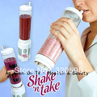 Wholesale OP Top Quality Shake N Take Juice Machine Multifunctional Mini Electricity Juicer Pocket Sports Bottle Blender