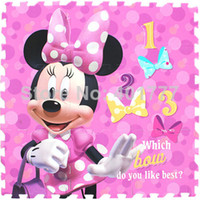 Wholesale OP Hot selling Minnie mouse Crawling Rug Foam Puzzle Mat Floor EVA Soft Tile Baby Kids Play in Room Protection mat