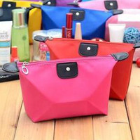 Wholesale Fashion Korean Style Cosmetic Bag Nylon Waterproof Can be Folded Washing Bag Many Colors