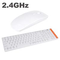 Wholesale 2 G Wireless Multimedia Optical Wireless Keyboard Mouse Combo Kit for PC Laptop White