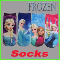 Wholesale 2014 Fashion Socks Frozen Elsa Anna Pattern Socks Kids Sock Baby Boys Girls Socks Children Cartoon Socks Boat Socks GZ GD25