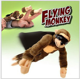 Wholesale Flying monkey screaming flying slingshot monkey Plush Toys Novelty Toy inch