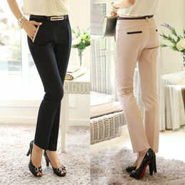 Wholesale XS XL New Spring Summer Women s Casual OL Pants Full Long Trousers Plus Size Pants Women Harem Slim Formal Trousers G0512