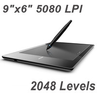 Wholesale 9 quot x6 quot USB Drawing Graphic Tablet Board For PC Laptop Computer with Cordless Digital Pen Levels LPI