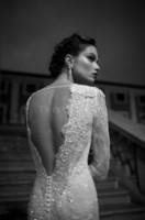Wholesale White Sexy Bateau Vintage Poet Long Sleeve Vestido de novia Lace Mermaid Wedding Dresses Open Back SweepTrain Crystal Bridal Gowns WJ080802