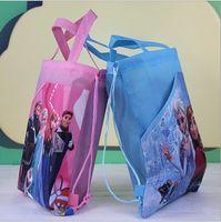 Preorder Frozen Children Girls Drawstring Bag Nonwoven Carto...