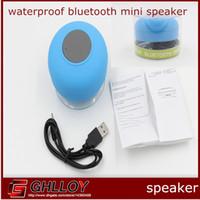 Wholesale Mini Waterproof Wireless Bluetooth Speaker Handsfree Speakerphone for iPhone S C iPad Smartphone Galaxy S4 Note Tablet Laptop up